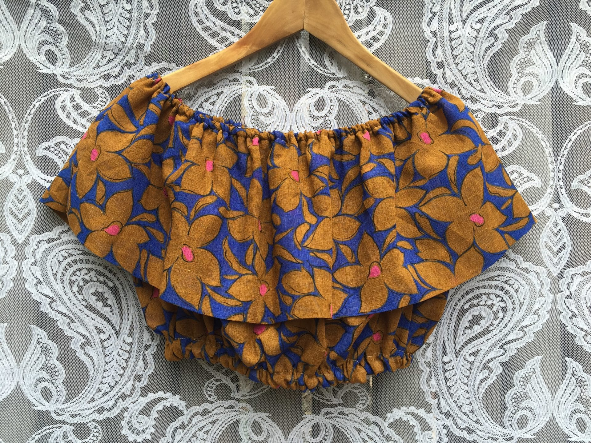 Vintage Flower Cropped Top