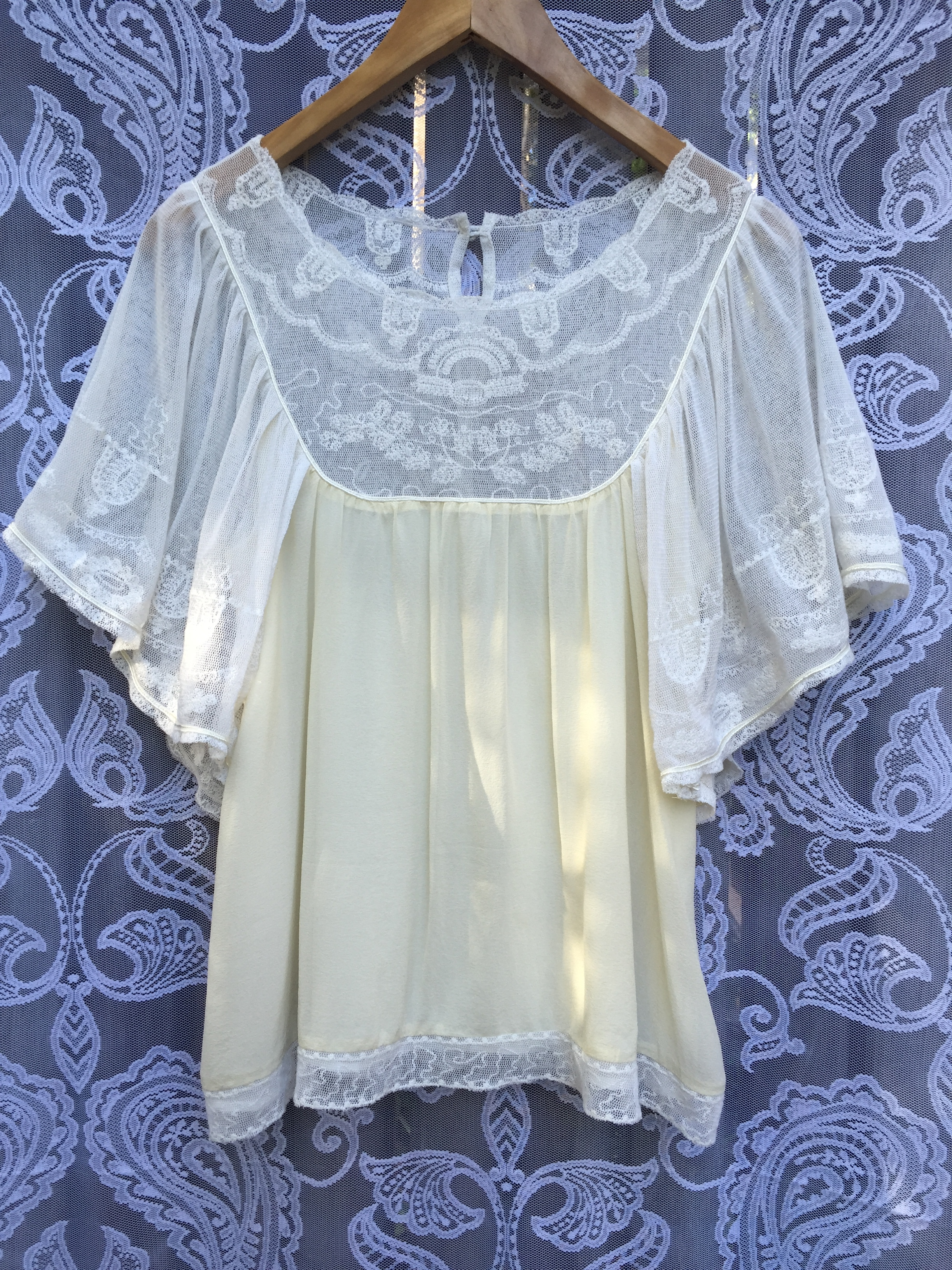Vintage Silk and Lace Top