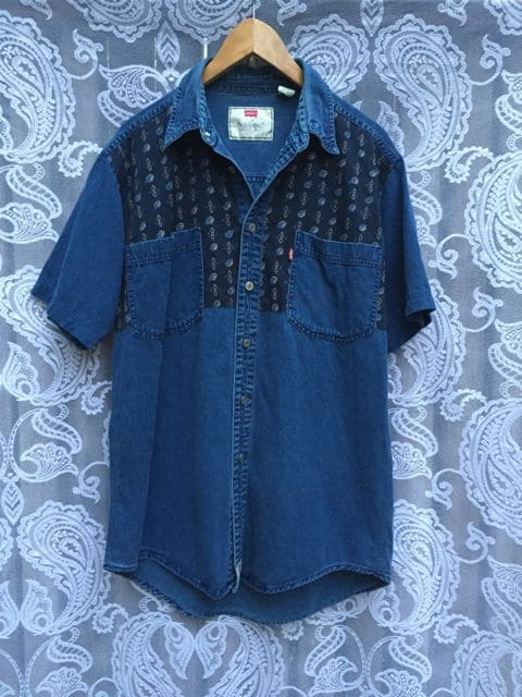 Vintage Levis Leaf and Diamond Print Shirt