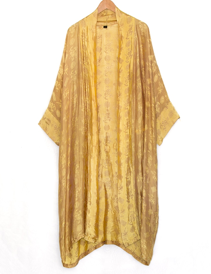 Silk Gold Oriental Robe Cardigan