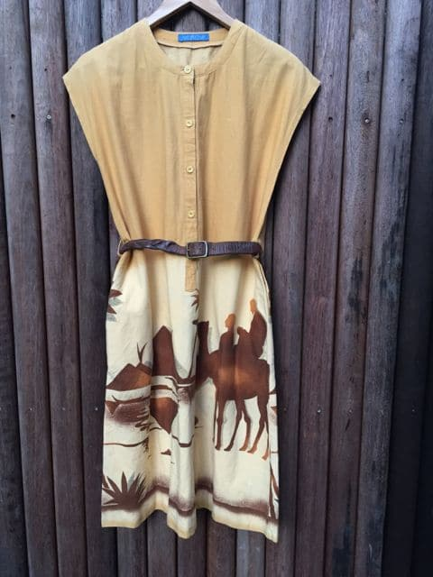 Camel Desert Vintage Dress