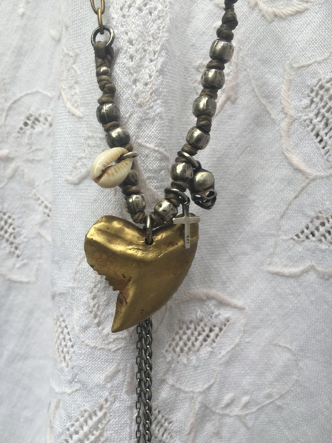 Pakaria Powell Shark Tooth Designer Handmade Unique Necklace