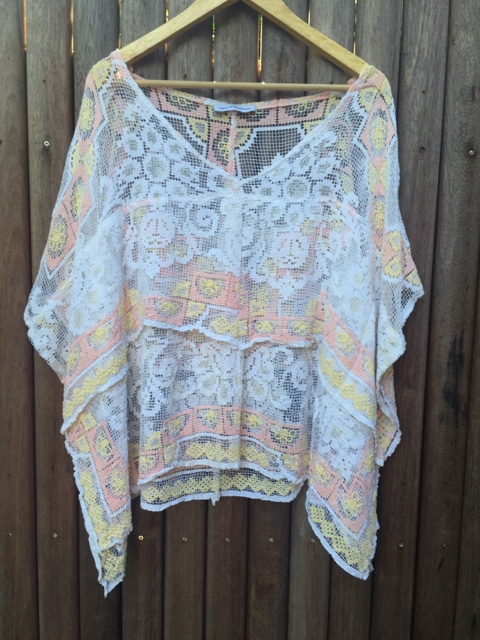 Vintage Lace Crochet Handmade Bohemian Top https://www.secondlovesvintage.com/