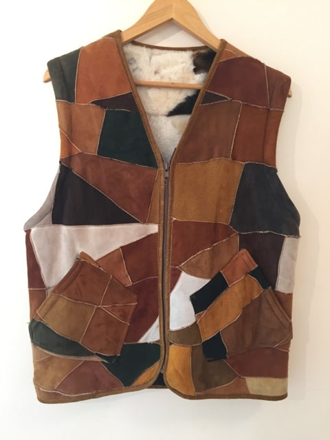 Vintage Faux Suede And Wool Vest https://www.secondlovesvintage.com/