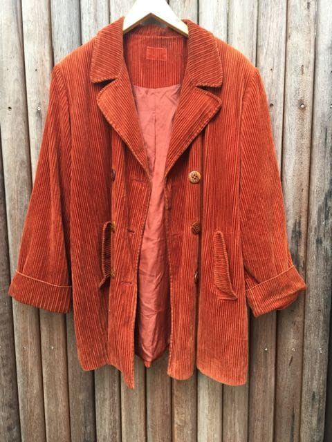 Vintage Corduroy Rust Orange Jacket