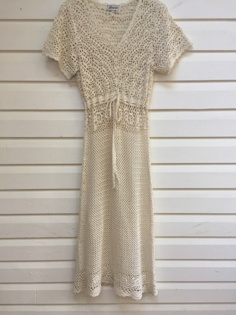 Crochet Vintage Maxi Dress // Wedding https://www.secondlovesvintage.com/