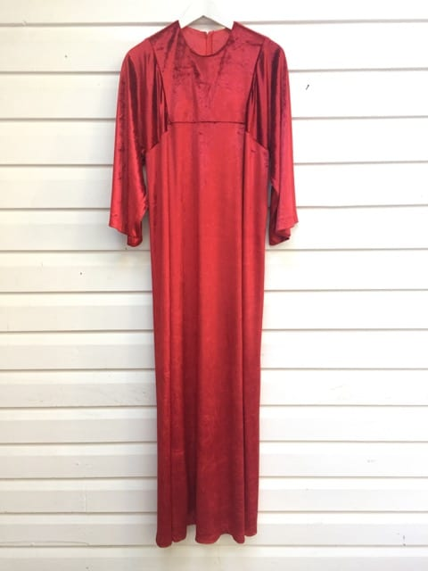 Red Velvet Vintage Maxi Dress https://www.secondlovesvintage.com/