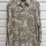 Outback Paisley Flower Print Vintage Shirt https://www.secondlovesvintage.com/