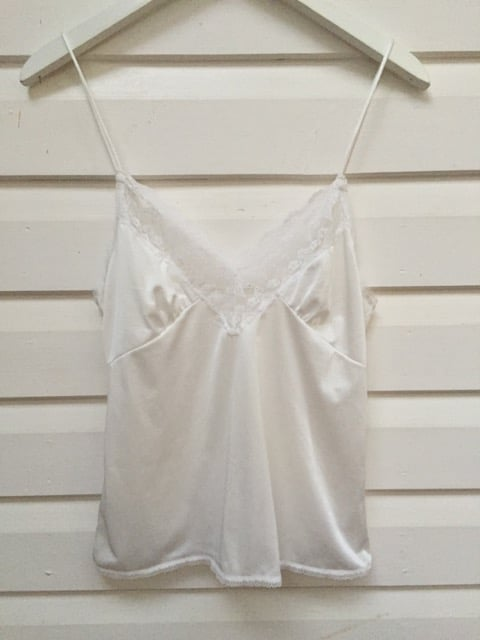 White Vintage Lace Slip Top https://www.secondlovesvintage.com/