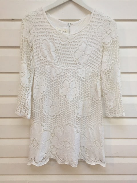 Allina White Crochet Lace Vintage Dress https://www.secondlovesvintage.com/