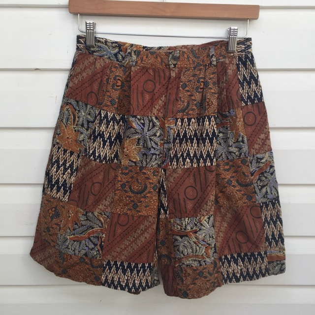 Batik Patchwork High Waist Vintage Shorts https://www.secondlovesvintage.com/