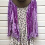 Lavender Velvet Frill Cardi Top https://www.secondlovesvintage.com/