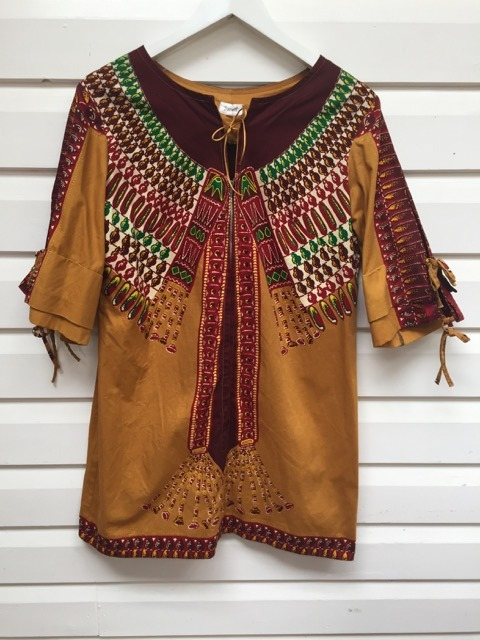 Janell African Inspired Vintage Dress https://www.secondlovesvintage.com/