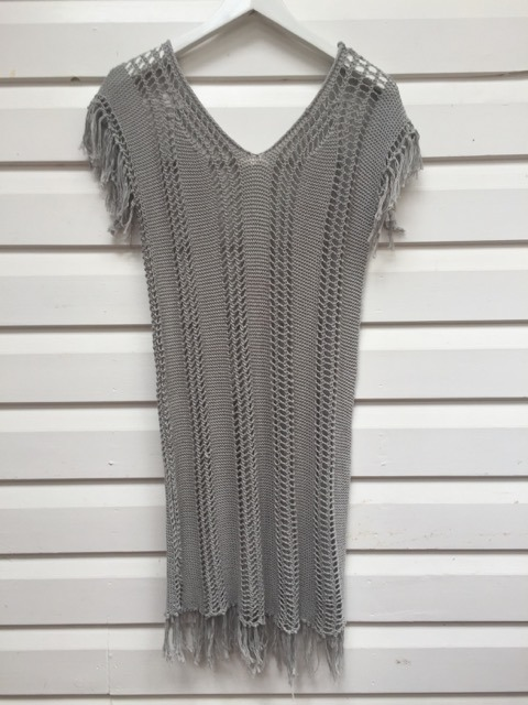 All That remains Grey Crochet Dress https://www.secondlovesvintage.com/