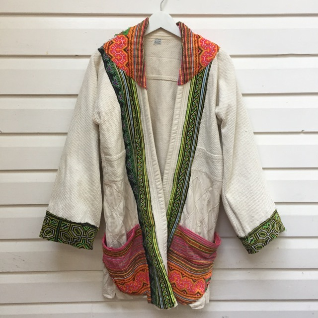 Thai Hill Tribe Patch Robe Jacket https://www.secondlovesvintage.com/