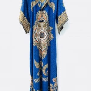 Blue Flare Sleeve Thai Vintage Kaftan https://www.secondlovesvintage.com/