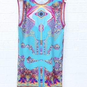 Niki Killick Rainbow Eye Dress https://www.secondlovesvintage.com/