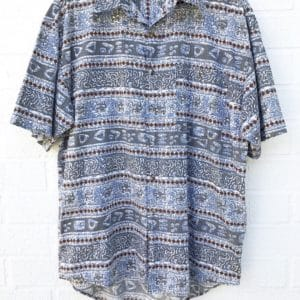 Brown Diamond Mens Vintage Party Shirt https://www.secondlovesvintage.com/
