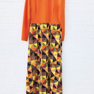 Sixties Vintage Bright Orange Maxi Dress https://www.secondlovesvintage.com/