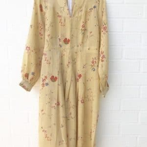 Autumn Floral Sixties Vintage Dress https://www.secondlovesvintage.com/