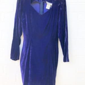 Indigo Velvet Nineties Vintage Dress https://www.secondlovesvintage.com/
