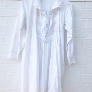 Vintage Lace White Cotton Night Dress https://www.secondlovesvintage.com/