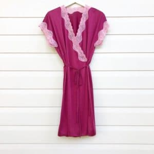 Burgundy Wrap Vintage Night Dress https://www.secondlovesvintage.com/