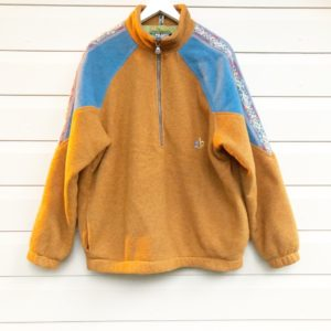 Polartec Mustard Floral Stripe Fleece https://www.secondlovesvintage.com/
