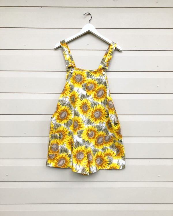 Sunflower Short Vintage Overalls https://www.secondlovesvintage.com/