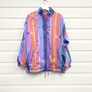 Eighties Pastel Aztec Vintage Jacket https://www.secondlovesvintage.com/