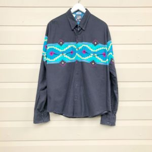 Aztec Stripe Mens Vintage Shirt https://www.secondlovesvintage.com/