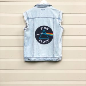 Pink Floyd Patch Afends Denim Vest https://www.secondlovesvintage.com/