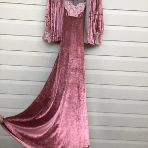 Pink Velvet Lace Vintage Cape + Dress https://www.secondlovesvintage.com/