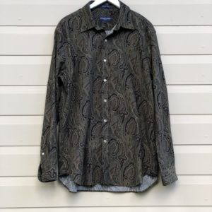 Corduroy Paisley Print Vintage Shirt https://www.secondlovesvintage.com/