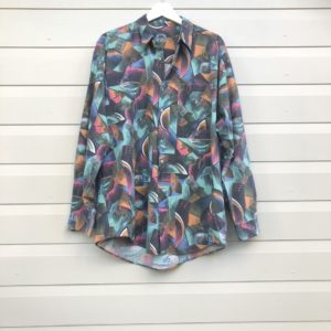 Abstract Print Mens Vintage Party Shirt https://www.secondlovesvintage.com/