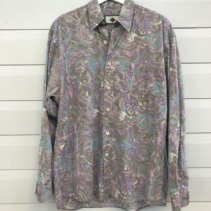 JS Abstract Print Mens Vintage Shirt https://www.secondlovesvintage.com/
