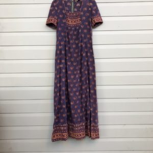 Indian Gauze Mayur Vintage Dress https://www.secondlovesvintage.com/