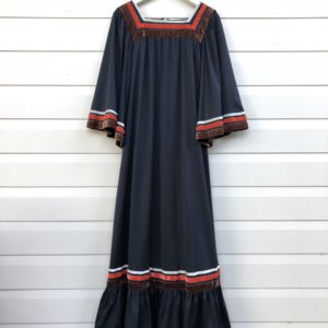 Acorn Velvet Stripe Vintage Dress https://www.secondlovesvintage.com/