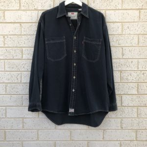 Levi's Red Tab Black Vintage Shirt https://www.secondlovesvintage.com/