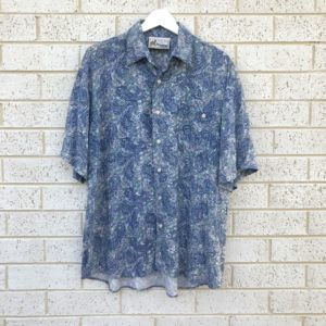Botany Bay Floral Paisley Vintage Shirt https://www.secondlovesvintage.com/
