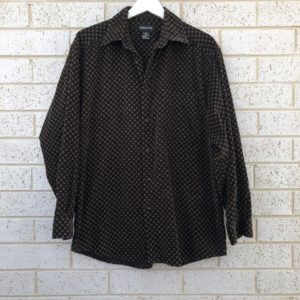 Vintage Print Corduroy Mens Shirt https://www.secondlovesvintage.com/